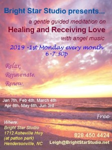 2019 Healing Meditation flyer every Monday copy